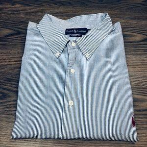 Polo Ralph Lauren Blue White Seersucker Shirt 4XL